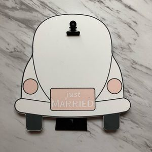 """""""Just Married"""" Photo Holder"""